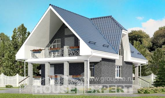 125-002-L Two Story House Plans with mansard roof with garage in back, beautiful House Online,