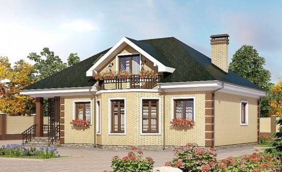150-013-L Two Story House Plans with mansard roof, a simple House Blueprints,