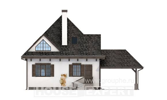 110-002-L Two Story House Plans and mansard with garage in front, the budget Construction Plans,