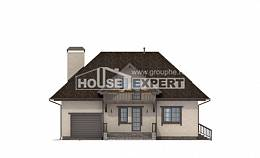 200-001-L Two Story House Plans with mansard roof with garage, classic Architects House,