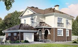 190-002-L Two Story House Plans with garage, a simple Villa Plan,