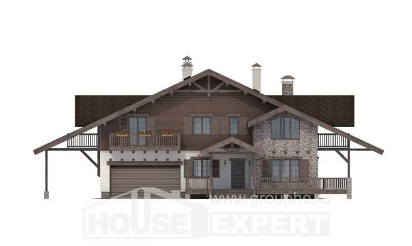 320-001-R Two Story House Plans with mansard roof with garage in back, beautiful Design Blueprints,