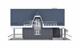 125-002-L Two Story House Plans with mansard with garage in back, best house House Planes,