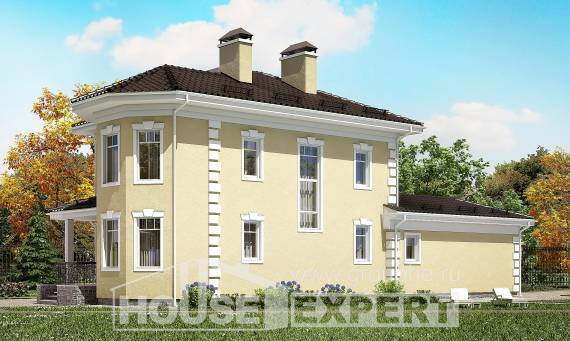 150-006-L Two Story House Plans with garage in front, available Villa Plan,