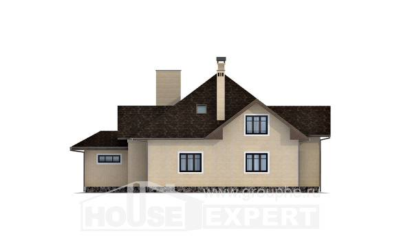 275-003-R Two Story House Plans with mansard roof and garage, modern Home House,