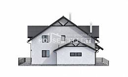 290-003-R Two Story House Plans with mansard roof with garage in front, beautiful Construction Plans, House Expert