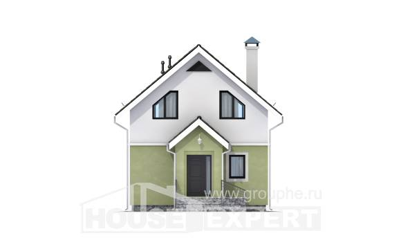 070-001-R Two Story House Plans with mansard, a simple Design House,