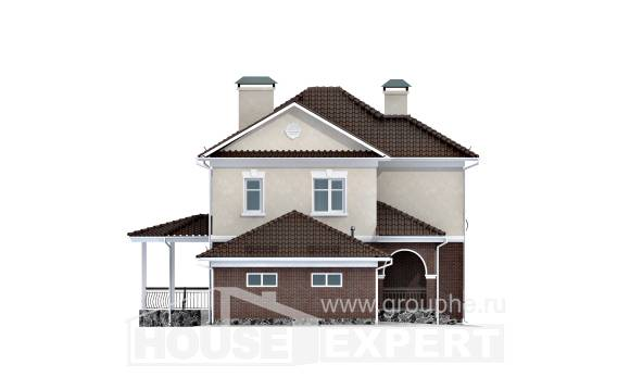 190-002-L Two Story House Plans and garage, luxury Building Plan,
