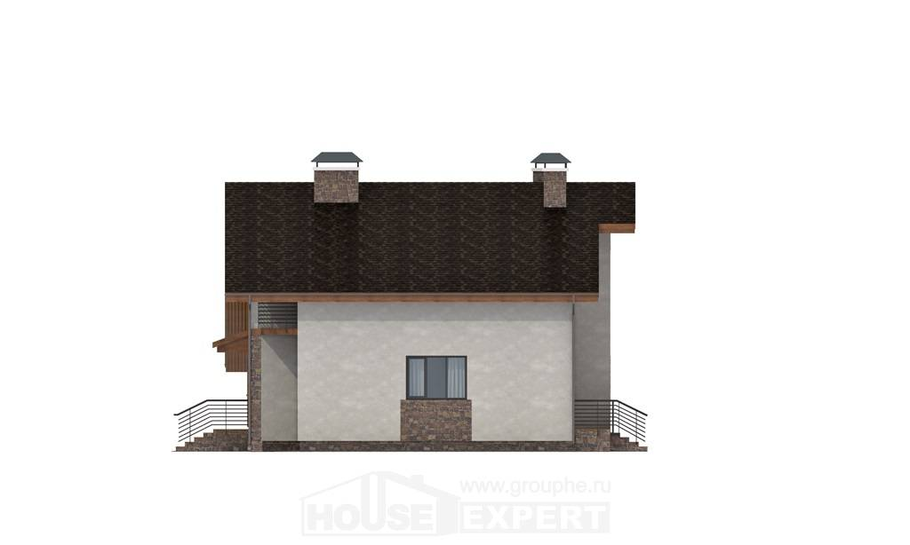 180-008-L Two Story House Plans with mansard with garage, best house Home Plans,