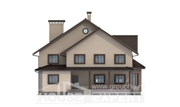 265-003-L Two Story House Plans, luxury Construction Plans,