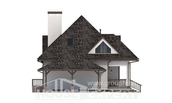 110-002-L Two Story House Plans and mansard and garage, best house Construction Plans,