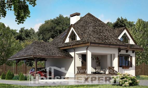 110-002-L Two Story House Plans and mansard with garage in front, a simple Online Floor,