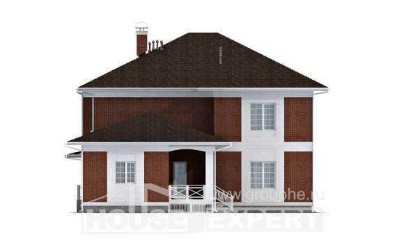 315-001-R Two Story House Plans with garage under, luxury Home House,