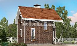 045-001-L Two Story House Plans and mansard, economical Design House,