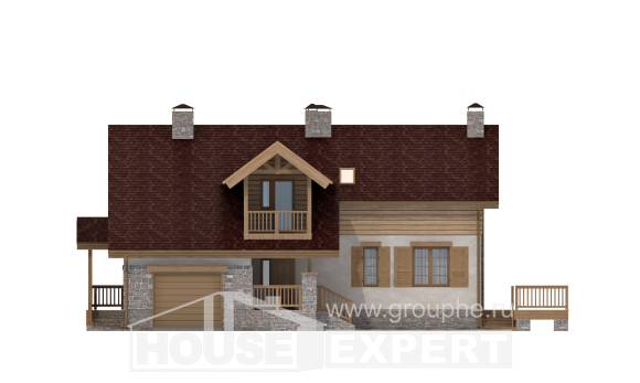 165-002-R Two Story House Plans with garage in back, economical Tiny House Plans, House Expert