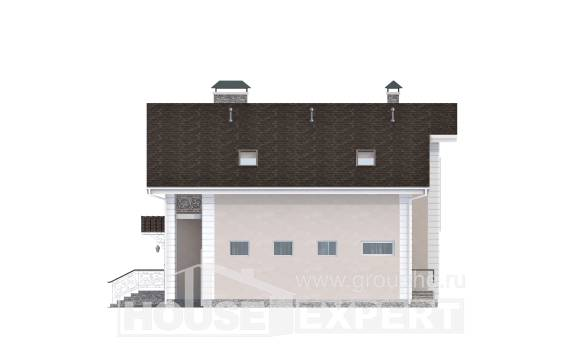 150-002-R Two Story House Plans with mansard roof with garage, available Construction Plans,