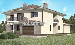 500-001-R Three Story House Plans with garage in front, big Ranch,