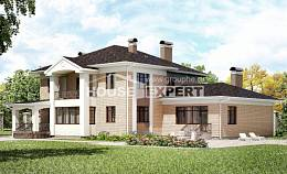 520-001-R Three Story House Plans, spacious Building Plan,
