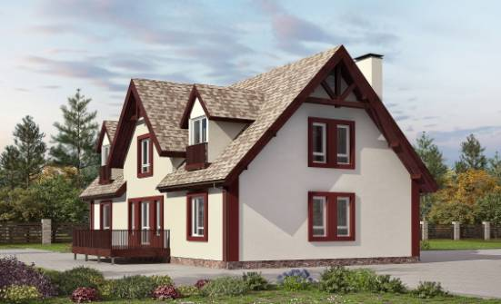 300-008-L Two Story House Plans with mansard roof with garage under, beautiful Timber Frame Houses Plans,