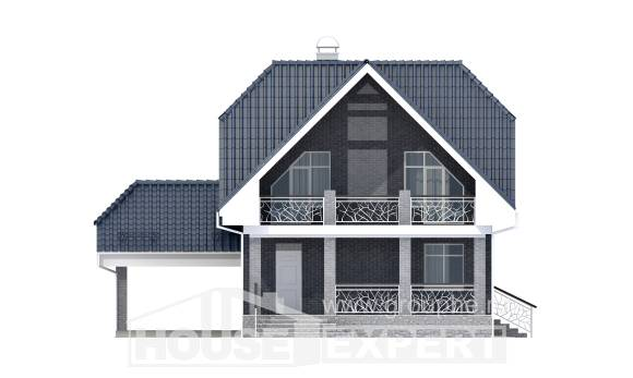 125-002-L Two Story House Plans and mansard with garage, cozy Online Floor,