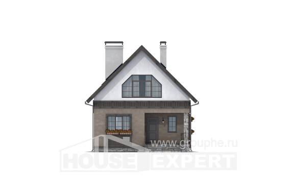 130-003-R Two Story House Plans with mansard, a simple Plans To Build,