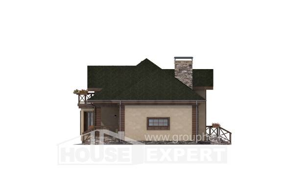 180-010-R Two Story House Plans with mansard and garage, beautiful Dream Plan,