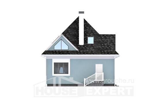110-001-L Two Story House Plans and mansard, cozy Villa Plan, House Expert