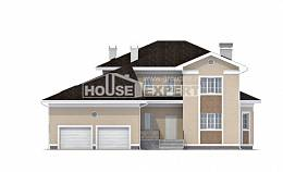 335-001-L Two Story House Plans with garage in back, best house Floor Plan,