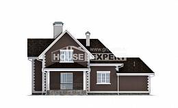 190-003-L Two Story House Plans with mansard roof with garage under, a simple Ranch,