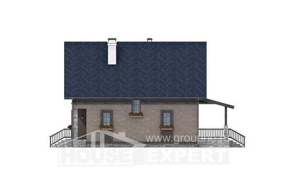 130-003-R Two Story House Plans with mansard, modern Blueprints,