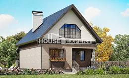 130-003-R Two Story House Plans with mansard roof, small House Blueprints,