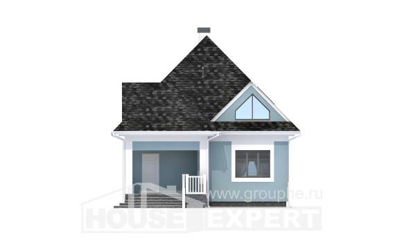 110-001-L Two Story House Plans with mansard, compact Floor Plan, House Expert
