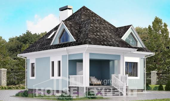 110-001-L Two Story House Plans with mansard roof, modest Design Blueprints, House Expert