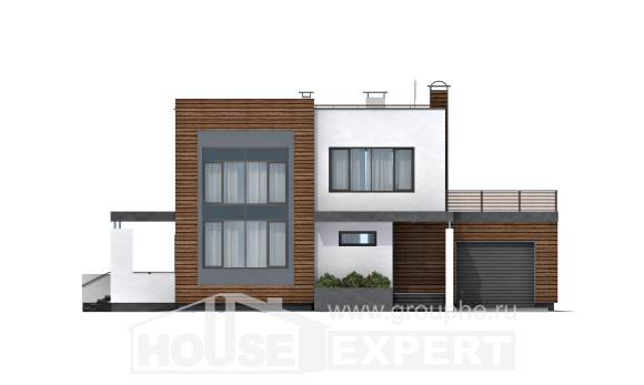 220-003-R Two Story House Plans with garage in back, modern Models Plans,