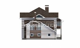 505-002-L Three Story House Plans with garage in front, luxury Building Plan,