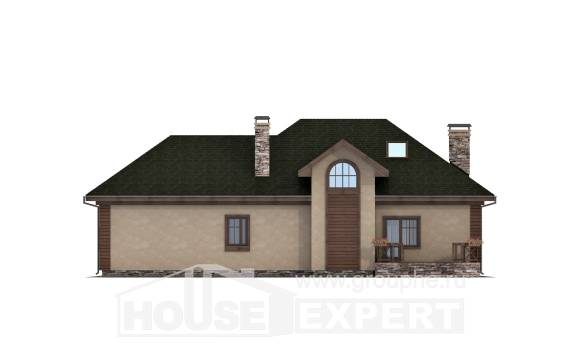 180-010-R Two Story House Plans with mansard with garage, beautiful Plans To Build,