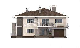 500-001-R Three Story House Plans with garage in back, spacious Design Blueprints,