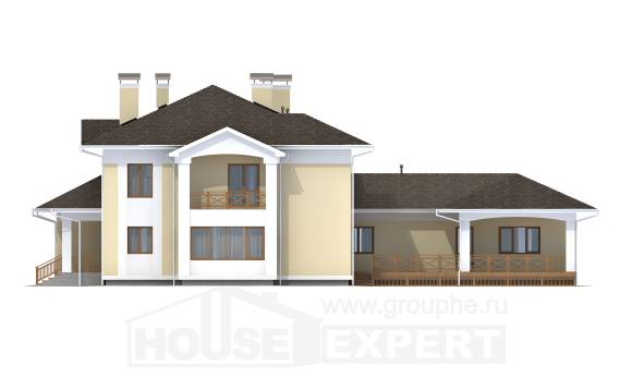 375-002-L Two Story House Plans with garage, spacious Ranch,