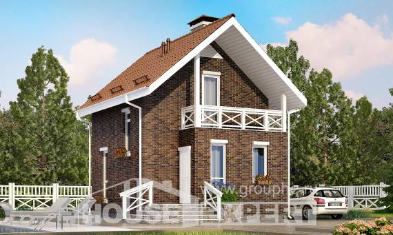 045-001-L Two Story House Plans with mansard, modern House Online,