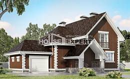 190-003-L Two Story House Plans and mansard with garage in back, average Blueprints,