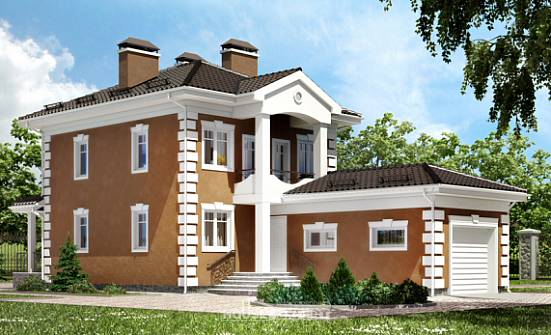 150-006-R Two Story House Plans with garage in back, economical Tiny House Plans,