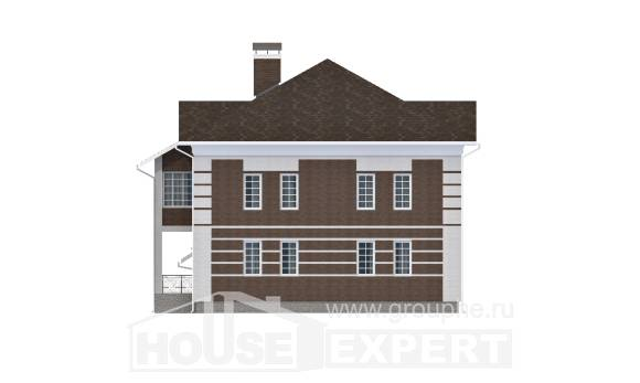 505-002-L Three Story House Plans with garage, spacious Architectural Plans,