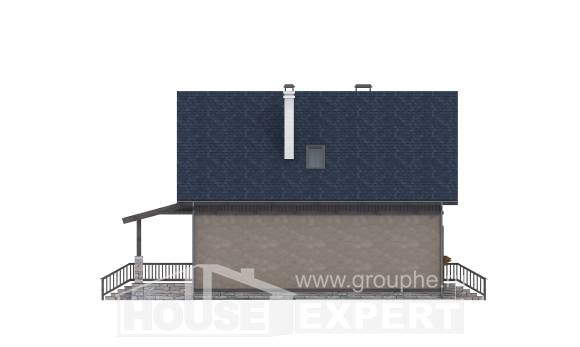 130-003-R Two Story House Plans and mansard, the budget Architects House,