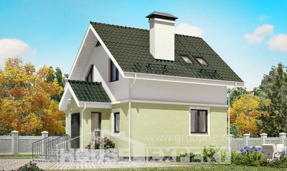 070-001-R Two Story House Plans with mansard roof, a simple Ranch,