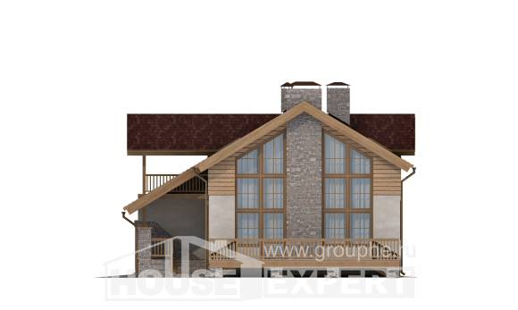 165-002-R Two Story House Plans with garage under, available Plans Free, House Expert
