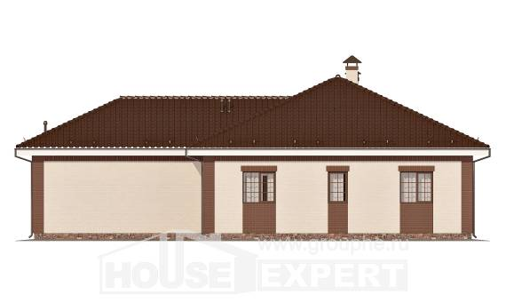 160-015-R One Story House Plans with garage in back, a simple House Planes,