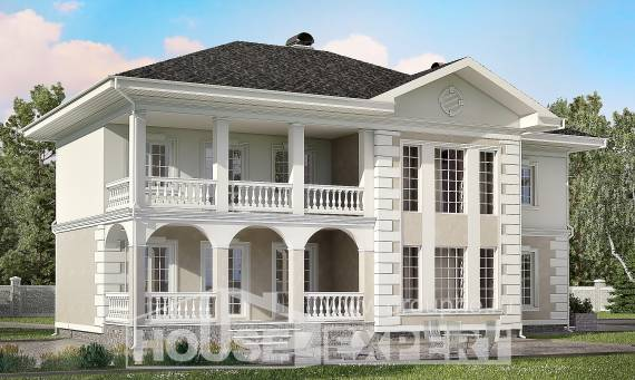 340-002-R Two Story House Plans with garage in back, big Planning And Design,