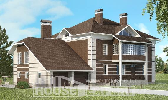 505-002-L Three Story House Plans and garage, a huge Blueprints of House Plans,