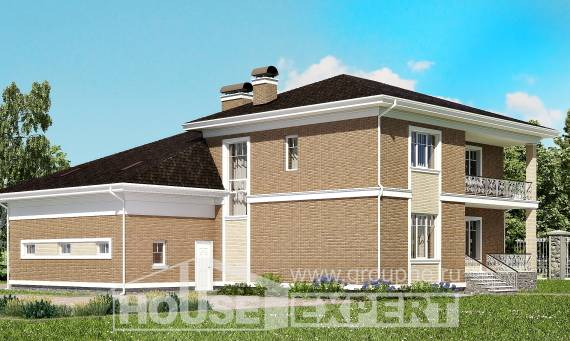 335-002-R Two Story House Plans with garage, a huge House Online,