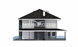 245-002-R Two Story House Plans with garage, luxury Floor Plan,